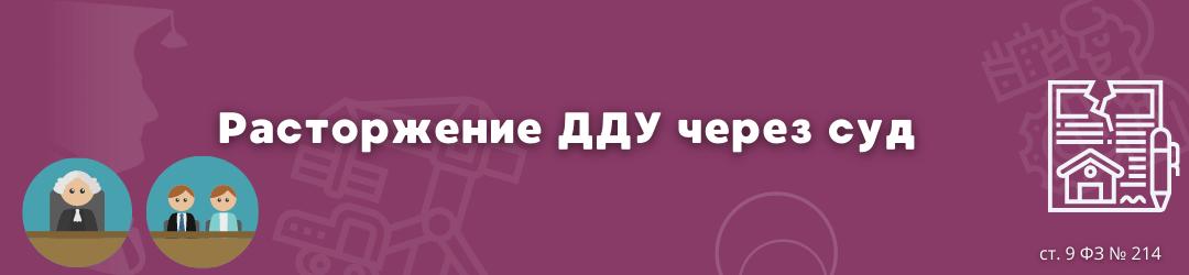 расторжение дду через суд ЮК Силкин и партнёры